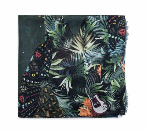 Zadig and Voltaire Maxy Patchwork Jungle Scarf