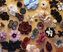 M&S Schmalberg Fabric Flowers Sample Sale
