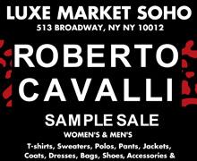 Roberto Cavalli Sample Sale at Luxe Market