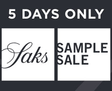 Saks Sample Sale at Saks Off 5th Riverhead