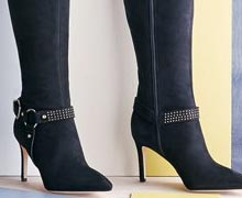 Black Boots: Wear Them with Everything Online Sample Sale @ Ruelala.com