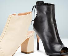 Perfect Peep-Toe Booties Online Sample Sale @ Gilt