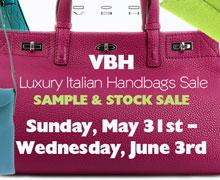 VBH Luxury Italian Handbags Sample & Stock Sale