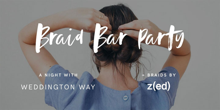 Weddington Way's Braid Bar Party in Banana Republic Store