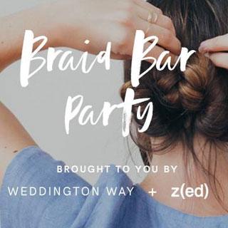 Weddington Way's Braid Bar Party in Banana Republic Store